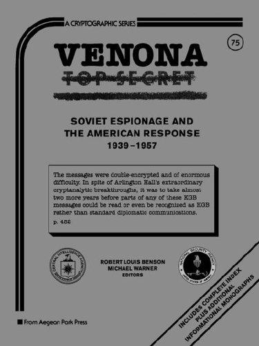 Venona, Soviet Espionage and the American Response (C-75), Warner, Michael