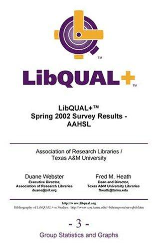Download LibQUAL+ Spring 2002 Survey Results