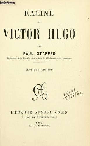 Download Racine et Victor Hugo.