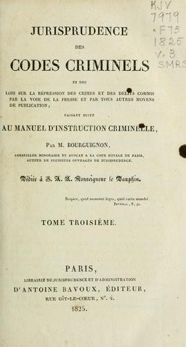 Jurisprudence des codes criminels