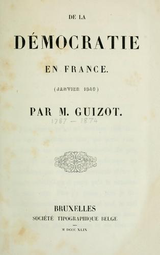 Download De la démocratie en France (janvier 1849)
