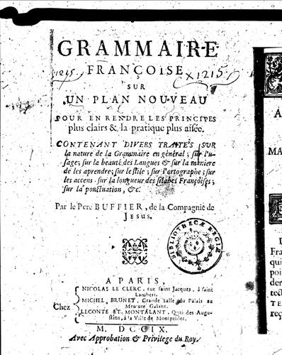 Grammaire françoise sur un plan nouveau