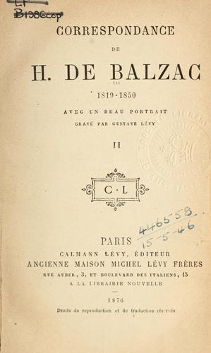 Correspondence 1819-1850.