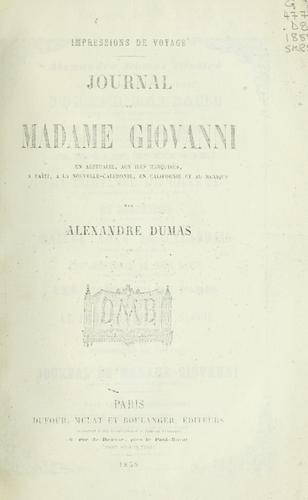Journal de Madame Giovanni