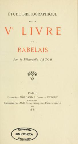 Download Étude bibliographique sur le Ve livre de Rabelais
