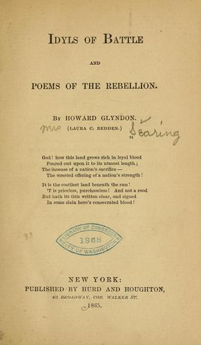 Download Idyls of battle and poems of the rebellion.