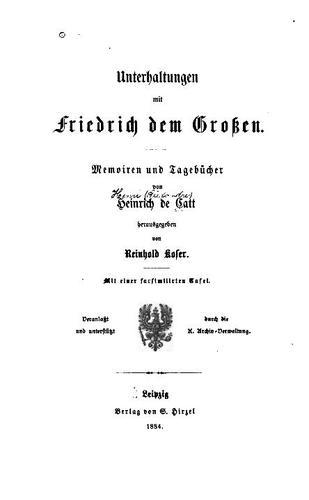 Unterhaltungen mit Friedrich dem Grossen