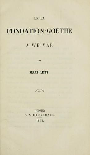 Download De la Fondation-Goethe à Weimar.