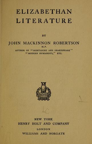 Download Elizabethan literature