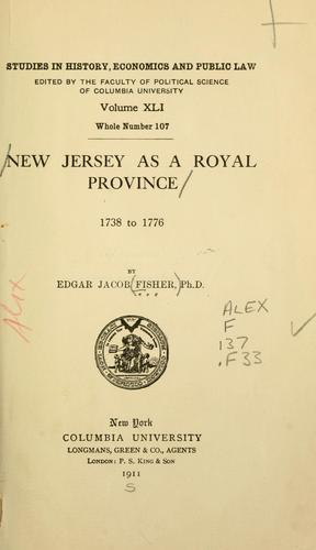 Download New Jersey as a royal province, 1738 to 1776.