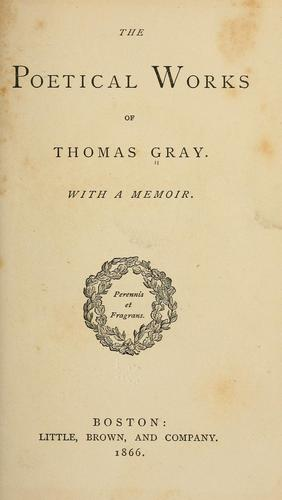 The poetical works of Thomas Gray.