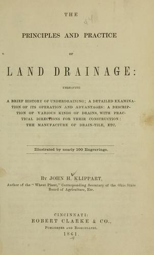 Download The principles and practice of land drainage.