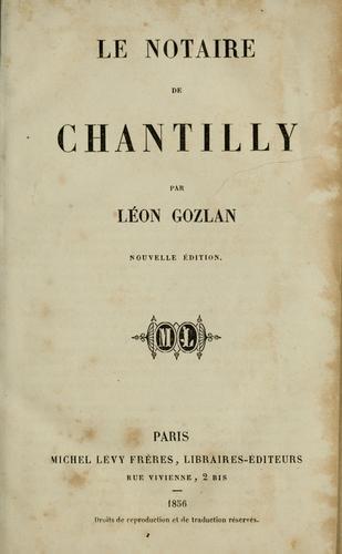 Le notaire de Chantilly