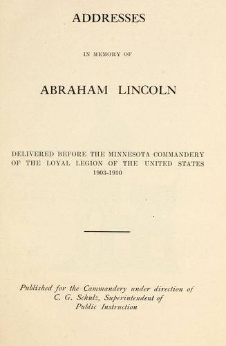 Download Addresses in memory of Abraham Lincoln