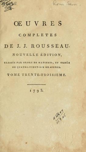 Download Oeuvres completes de J.J. Rousseau.
