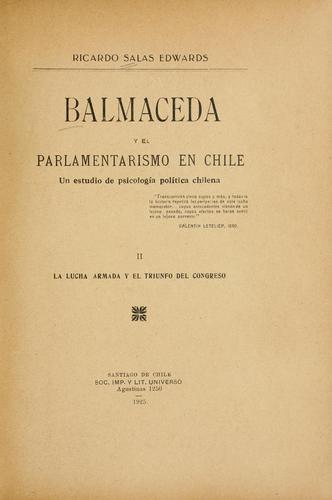 Balmaceda y el parlamentarismo en Chile