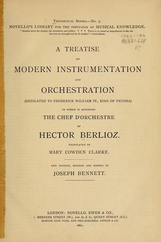 Download A treatise on modern instrumentation and orchestration