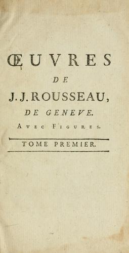Download Oeuvres de J.J. Rousseau.