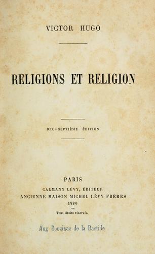 Religions et religion.
