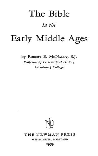 Download The Bible in the early Middle Ages.