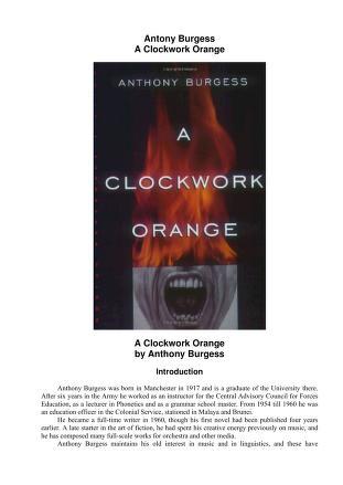 Cover of: A clockwork orange | Anthony Burgess