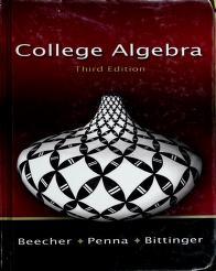 Cover of: College algebra | Judith A. Beecher