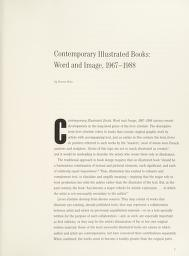 Cover of: Contemporary illustrated books | organized and circulated by Independent Curators Incorporated, New York ; essay by Donna Stein, guest curator.