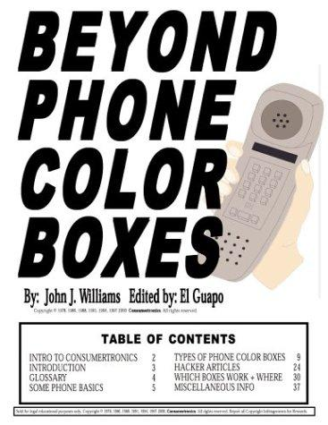 Beyond Phone Color Boxes by John J. Williams