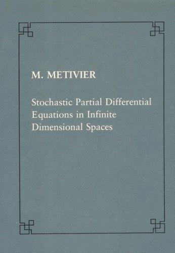 Stochastic partial differential equations in infinite dimensional spaces (Publications of the Scuola Normale Superiore) by Michel Métivier