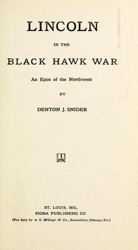 Lincoln in the Black Hawk war