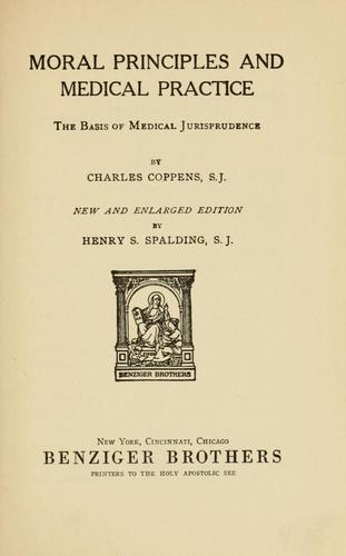 Moral principles and medical practice
