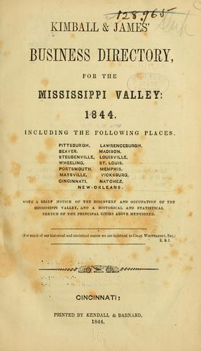 Kimball & James' business directory for the Mississippi Valley, 1884 by